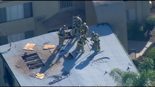 Crews knock down apartment building fire in el cajon cbs for Worldwide motors san diego ca