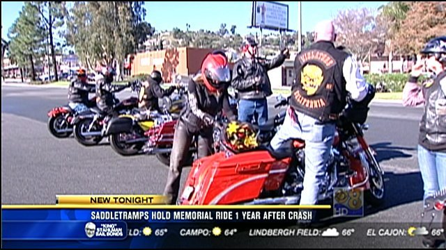 Saddletramps hold memorial ride 1 year after fatal crash - San ...
