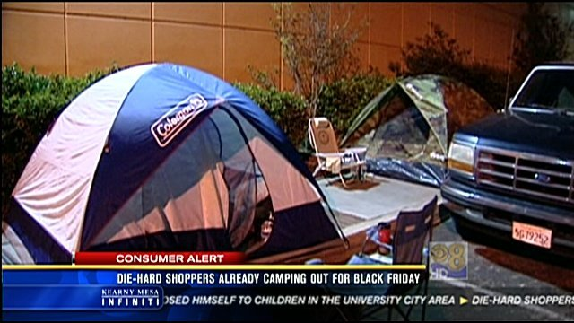 San Diego Honda >> Die-hard shoppers already camping out for Black Friday ...