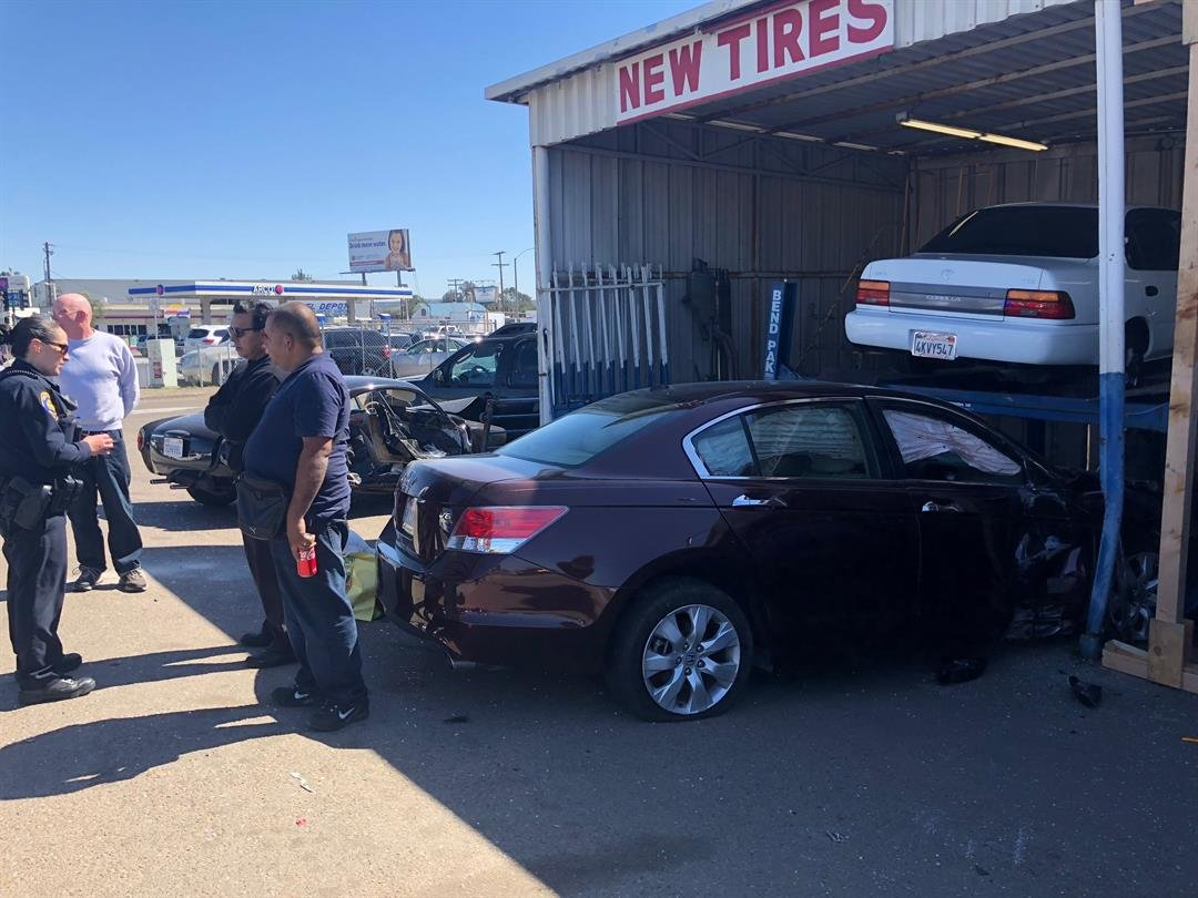 Employee injured after car slams into chula vista auto for Worldwide motors san diego ca