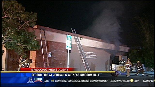 Second Fire At Jehovah S Witness Kingdom Hall Cbs News 8