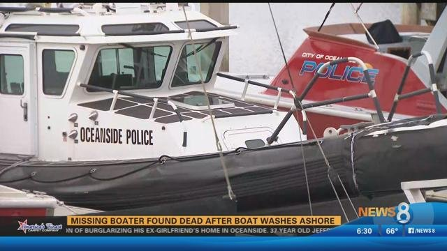 Oceanside police body of missing boater found after boat washes oceanside police body of missing boater found after boat washes cbs news 8 san diego ca news station kfmb channel 8 solutioingenieria Choice Image