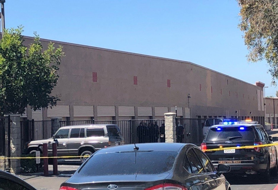 CHULA VISTA (NEWS 8)   A Man Found Dead Wednesday Inside An SUV That Plowed  Through The Front Gate Of A South Bay Public Storage Business And Crashed  To A ...