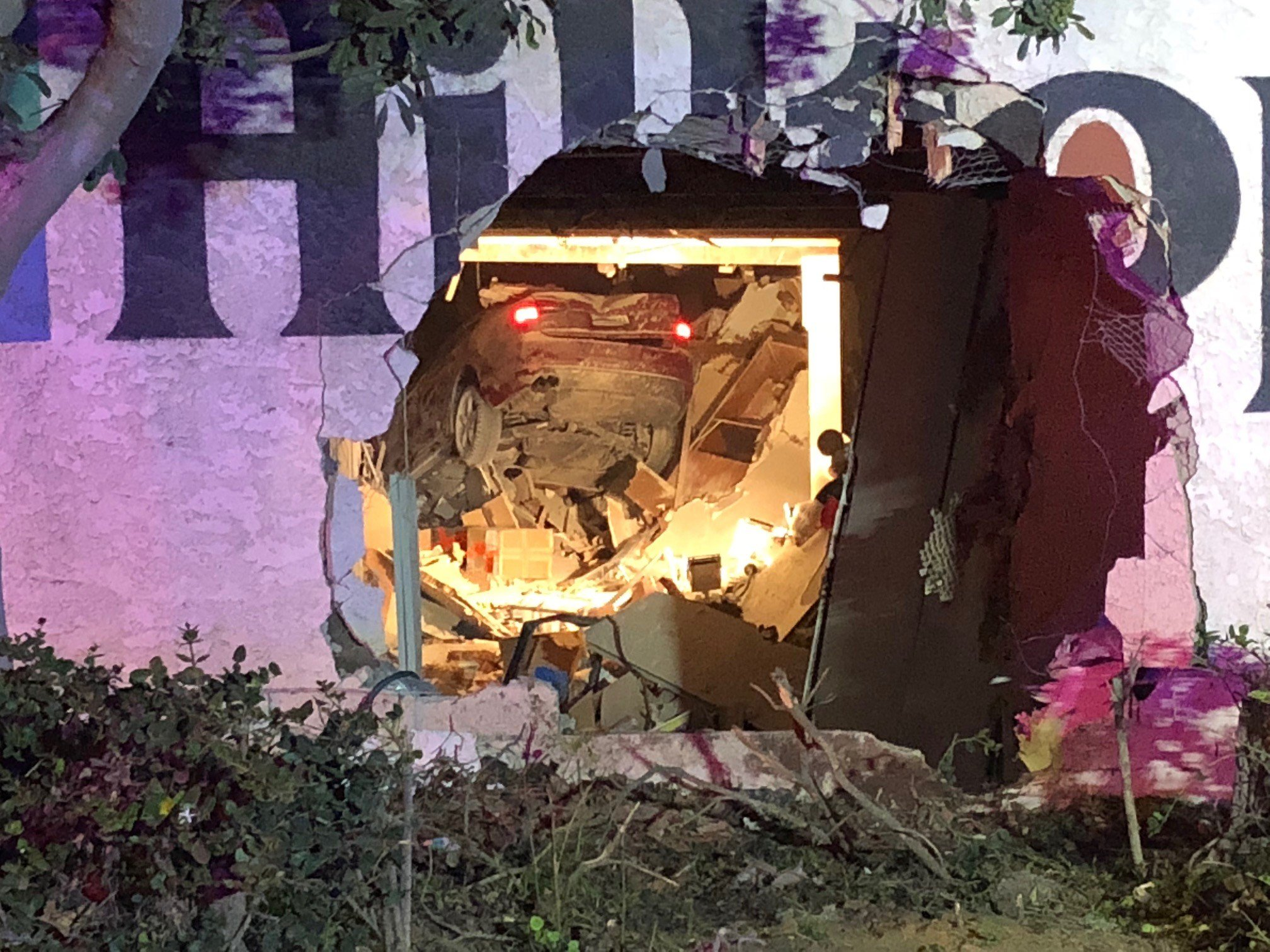 CHULA VISTA (NEWS 8)   A Driver Was Rushed To The Hospital Thursday Night  After Crashing Through The Wall Of A Storage Facility In Chula Vista.