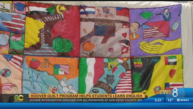 hoover quilt program helps students learn english cbs news 8 san