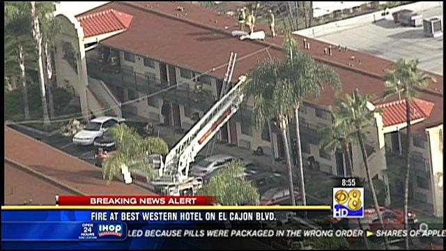 San Go Cbs 8 Fire Crews Are On The Scene Of A Best Western Hotel 6400 Block El Cajon Boulevard