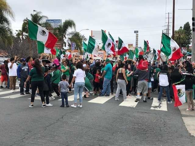 Soccer fans block national city street after mexico for Worldwide motors san diego ca