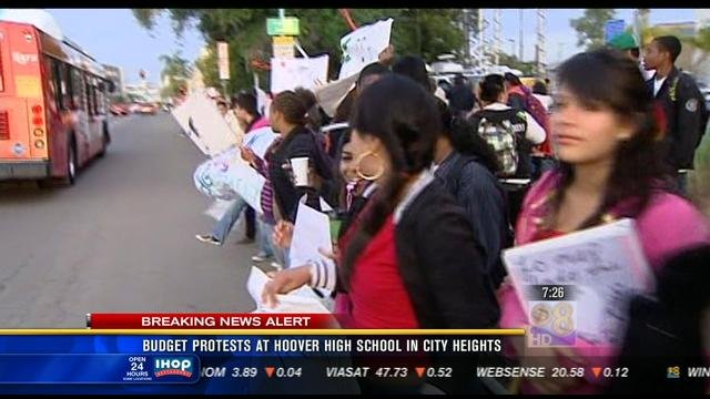 National City Auto Center >> Budget protest at Hoover High School in City Heights - CBS ...