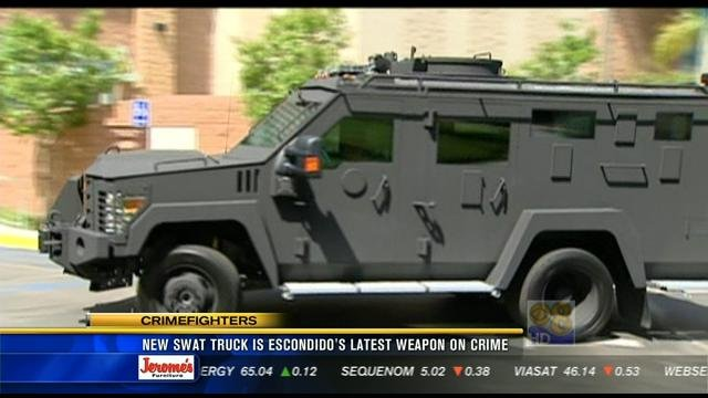 New Swat Truck Is Escondido S Latest Weapon Against Crime
