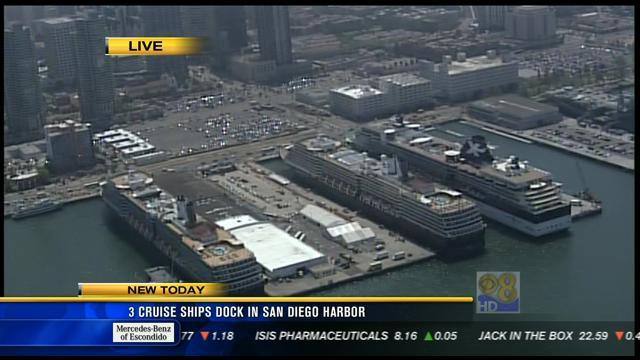 Cruise Ships Dock In San Diego Harbor CBS News San Diego - Cruise ships in san diego