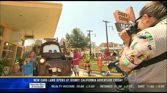 new cars land opens at disney california adventure friday cbs news