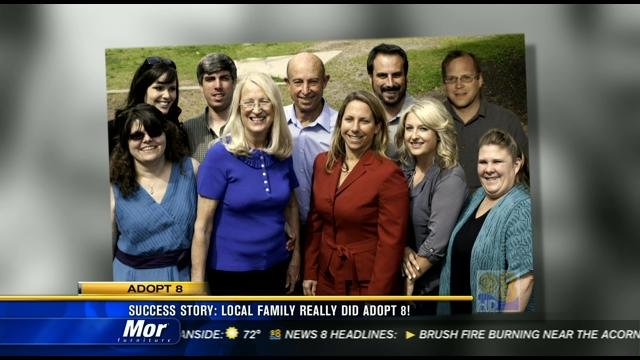 Success Story: Local family really did adopt 8 - CBS News ...