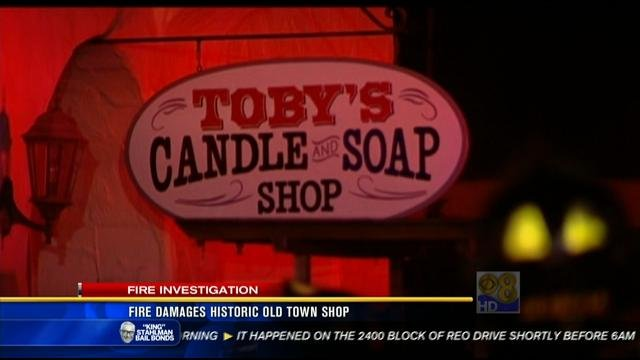 Fire Breaks Out In Historic Old Town Candle Shop Cbs News 8 San Diego Ca News Station