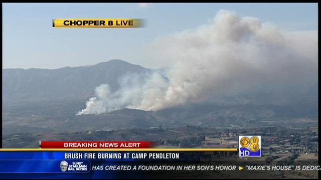Brush Fire Nearly Contained At Camp Pendleton Cbs News 8
