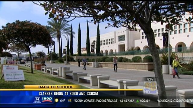 Back To School For Thousands Of San Diego College Students
