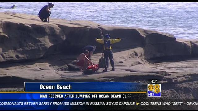 Man Rescued After Jumping Off Ocean Beach Cliff Cbs News