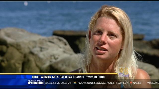 Local Woman Sets Catalina Channel Swim Record Cbs News 8