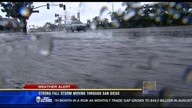 Honda Of Florence >> Strong fall storm moving through San Diego - CBS News 8 ...