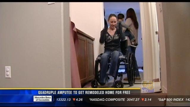 Quadruple amputee to get remodeled home for free - CBS
