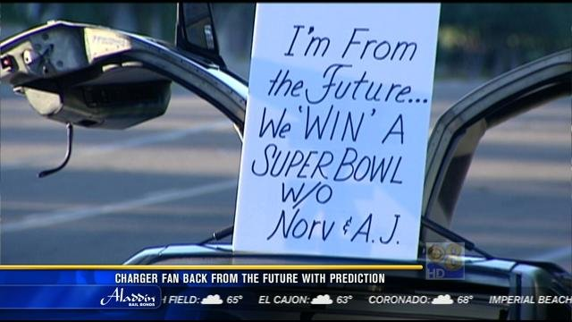Chargers Fan Back From The Future With Prediction Cbs