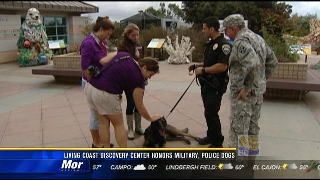 Living Coast Discovery Center Honors Military Police Dogs