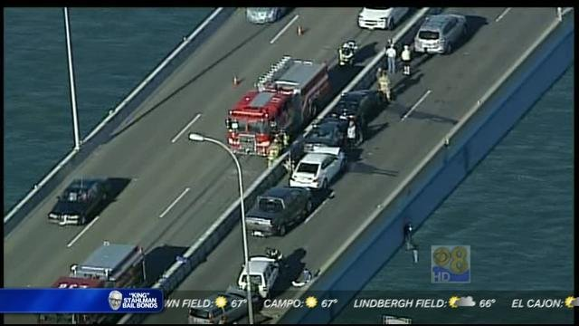 Family Auto Center >> Chain-reaction crash on Coronado Bridge - CBS News 8 - San ...