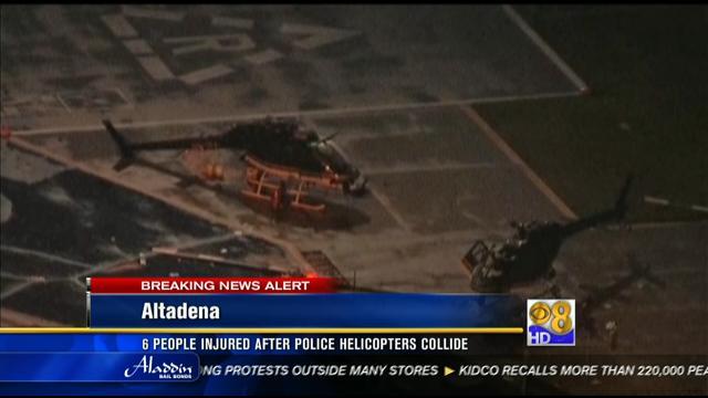 Honda Of Pasadena >> 6 injured in Pasadena police helicopter crash - CBS News 8 - San Diego, CA News Station - KFMB ...