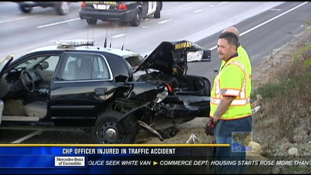 SAN DIEGO (CNS) - A California Highway Patrol officer whose car was