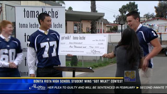 Honda Chula Vista >> Bonita Vista High School student wins Got Milk? Contest - CBS News 8 - San Diego, CA News ...