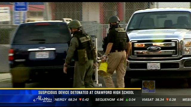 suspicious device detonated at crawford high school