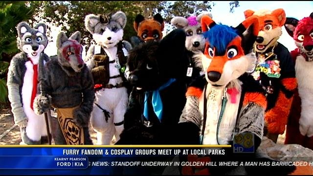 Furry Fandom & Cosplay groups meet up at local parks - CBS ...