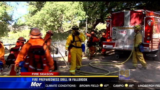 fire preparedness drill  fallbrook cbs news  san diego ca news station kfmb channel