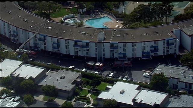 Fire at massive circular apartment complex in point loma - Apartment complexes san diego ...