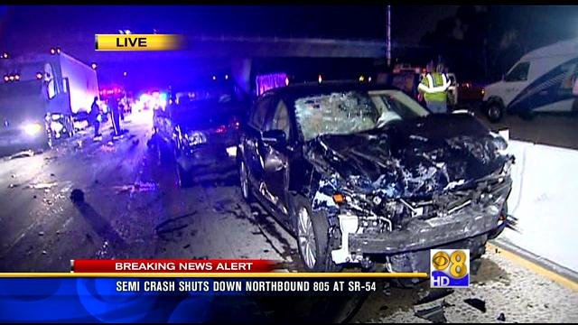 Fatal multi vehicle crash on i 805 in national city cbs for National motors san diego