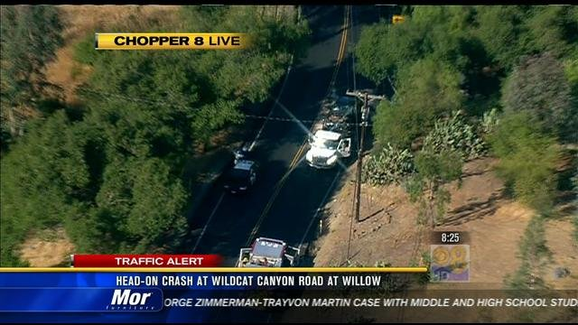 Head On Crash On Wildcat Canyon Road Cbs News 8 San Diego Ca News Station Kfmb Channel 8