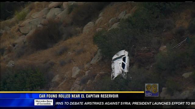 Car Found Rolled Near El Capitan Reservoir Cbs News 8