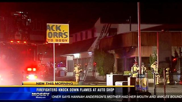 Firefighters knock down flames at auto shop cbs news 8 for Worldwide motors san diego ca
