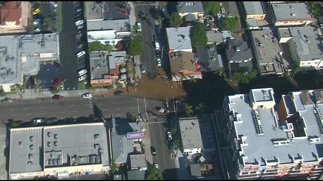 Repairs underway on broken water main in Hillcrest - CBS ...