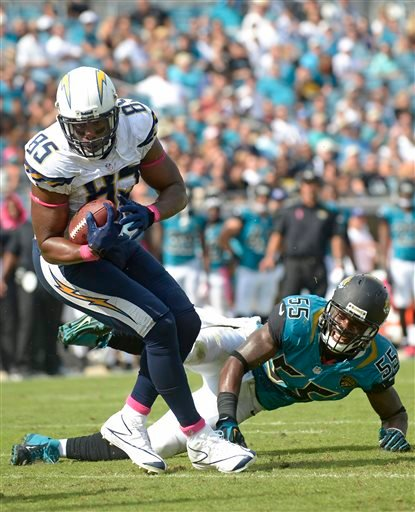 San Diego Chargers Antonio Gates: Chargers Handle Winless, Lifeless Jaguars 24-6