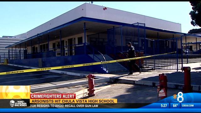 Chula Vista High School Fire Under Investigation Cbs News 8 San Diego Ca News Station