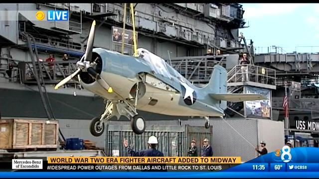 World War Ii Era Fighter Aircraft Added To Uss Midway Museum Cbs News 8 San Diego Ca News