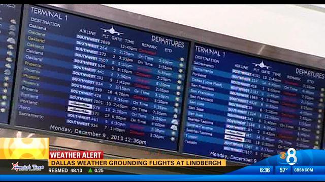 dallas weather grounding flights at lindbergh field