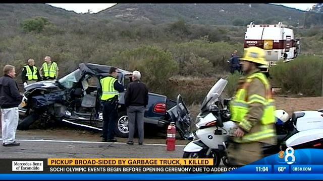 Driver killed as trash truck slams into vehicle in for Worldwide motors san diego ca