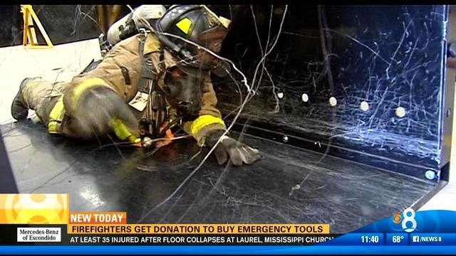 Firefighters get donation to buy emergency tools - CBS ...