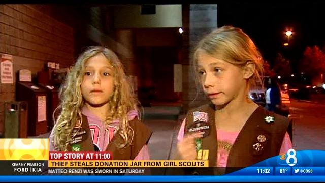 search for thief who stole from girl scouts   cbs news 8