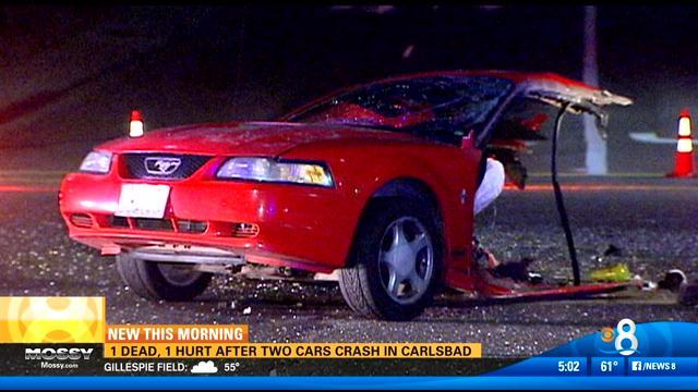 1 Dead 1 Hurt In Two Car Crash In Carlsbad Cbs News 8 San