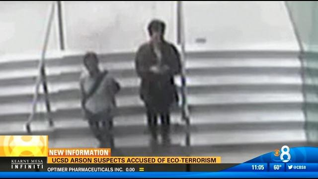 UCSD arson suspects accused of eco-terrorism - CBS News 8