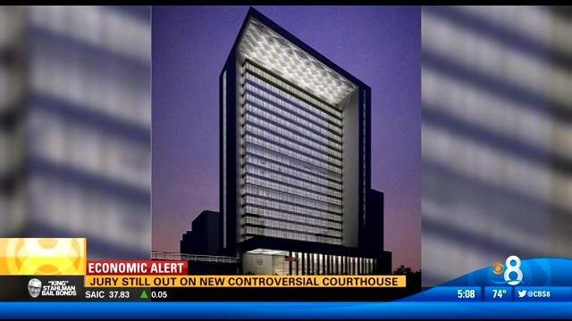 County Line Auto >> Ground broken for central courthouse - CBS News 8 - San ...