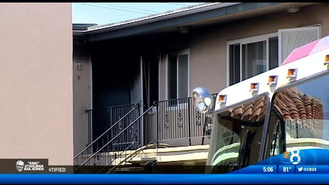 Fire damages bedroom in hillcrest apartment complex cbs - Apartment complexes san diego ...