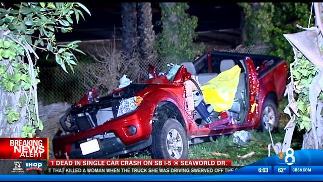 San Diego Honda >> Fatal single car crash on SB I-5 at SeaWorld Drive - CBS ...